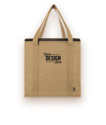 KOOZIE® Zippered Insulated Grocery Tote Bag - Tan
