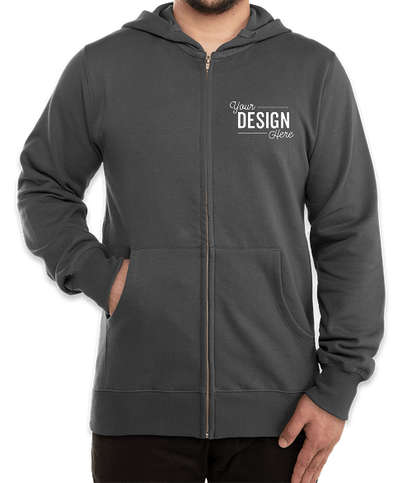 Econscious Organic/Recycled Zip Hoodie - Charcoal