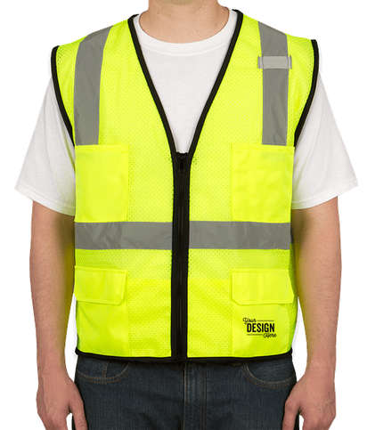 Kishigo Class 2 Pocket Mesh Safety Vest - Lime