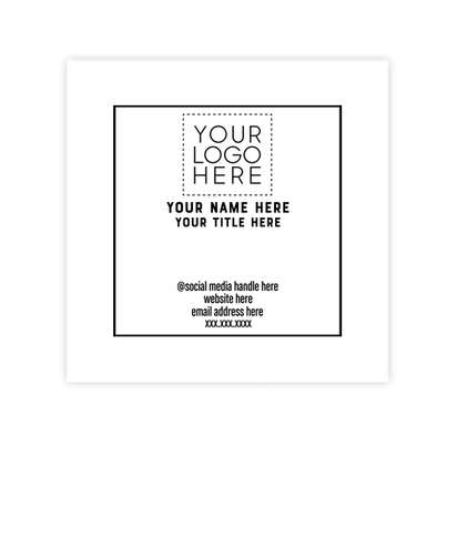 """2.5"""" x 2.5"""" Square Business Cards - 14 pt. Cardstock - White Glossy"""