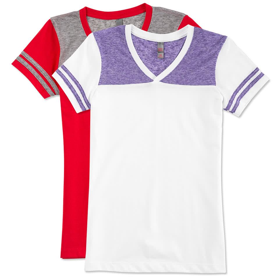 Design shirt v neck - Custom District Juniors Varsity V Neck T Shirt Design Juniors Short Sleeve Tank Tops Online At Customink Com