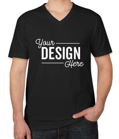Next Level Jersey Blend V-Neck T-shirt - Black