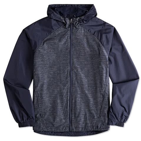 Sport-Tek Heather Raglan Hooded Full Zip Jacket
