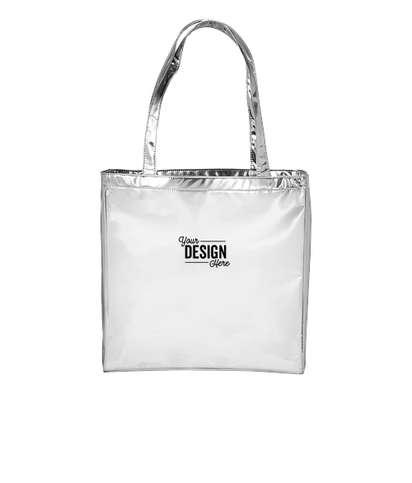 Runway Metallic Tote Bag - Silver