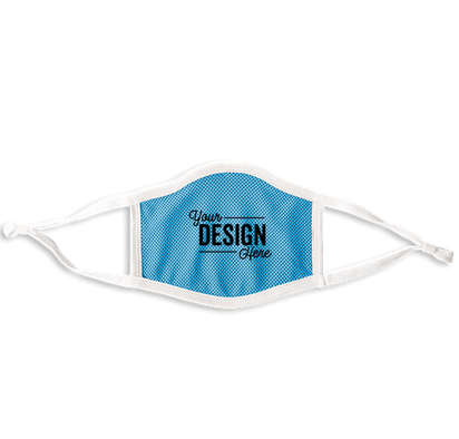 Customized Triple-ply Performance Face Mask - Light Blue / White