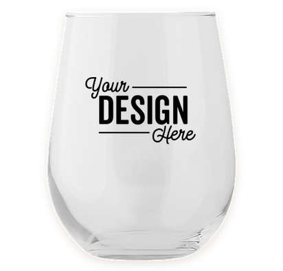 Full Color 17 oz. Stemless Wine Glass - Clear