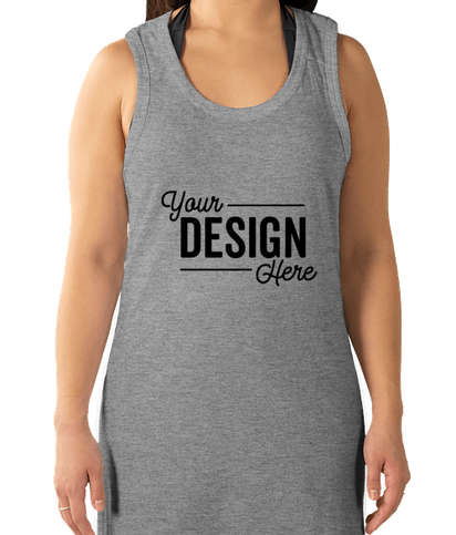 LAT Racerback Tank Dress - Heather