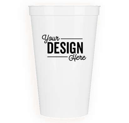 22 oz. Plastic Stadium Cup - White