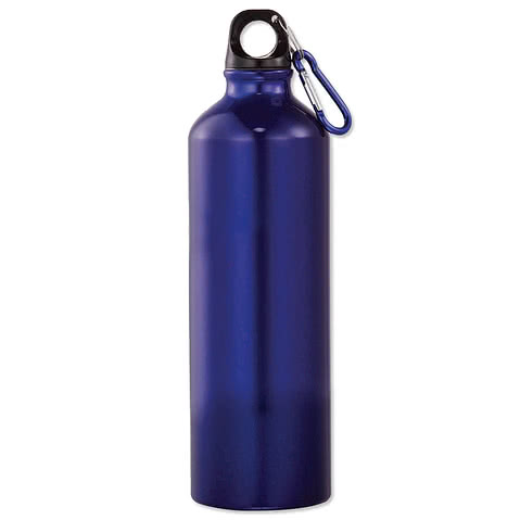26 oz. Aluminum Water Bottle with Matching Carabiner