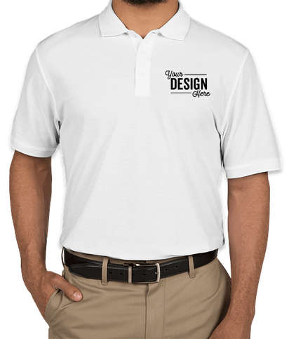 Port Authority Tall Lightweight Classic Pique Polo - White