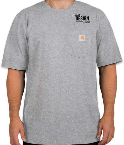 Carhartt Tall Workwear Pocket T-shirt - Heather Grey