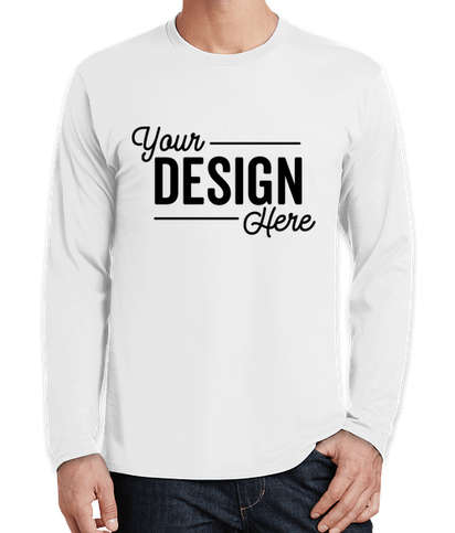 Port & Company Fan Favorite Long Sleeve T-shirt - White