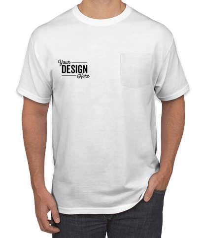 Jerzees 50/50 Pocket T-shirt - White
