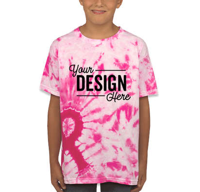 Dyenomite Youth Charity Ribbon Tie-Dye T-shirt - Pink