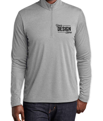 Sport-Tek Endeavor Quarter Zip Performance Shirt - Light Grey Heather