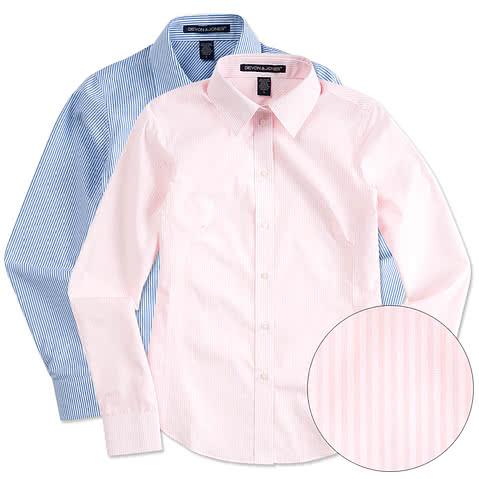 Devon & Jones Women's Banker Stripe Dress Shirt