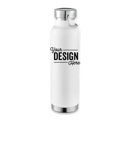 22 oz. Thor Copper Vacuum Insulated Water Bottle - White