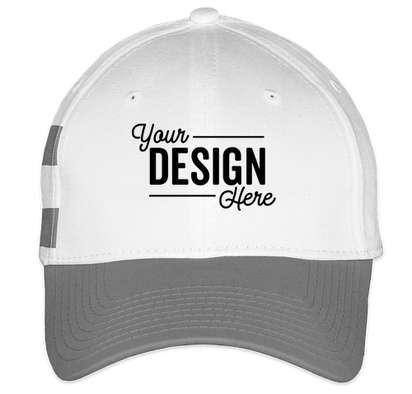 New Era Stretch Fit Striped Cotton Hat - White / Grey