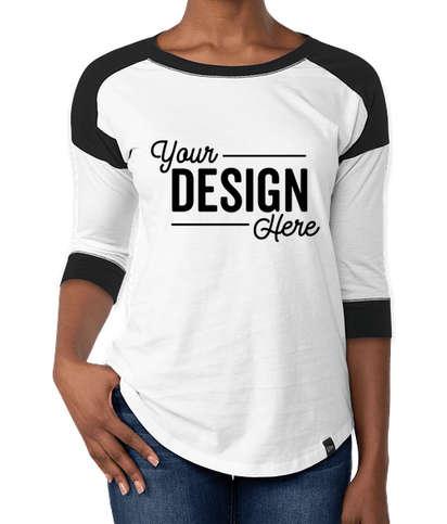 New Era Women's Heritage Blend Raglan T-shirt - Black / White