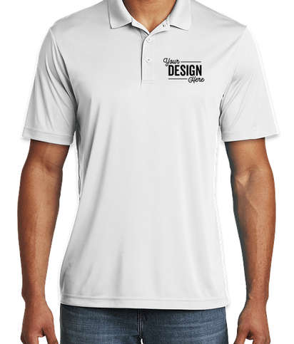 Sport-Tek Competitor Performance Polo - Embroidered - White