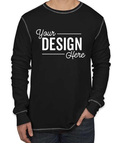 Bella + Canvas Long Sleeve Thermal Shirt - Black / Grey