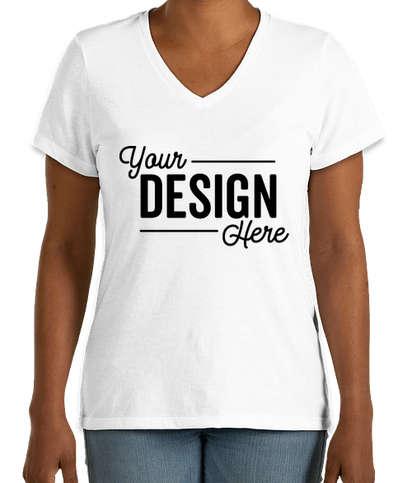 District Women's Perfect Blend V-Neck T-shirt - White
