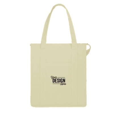Hercules Zippered Insulated Grocery Tote Bag - Cream