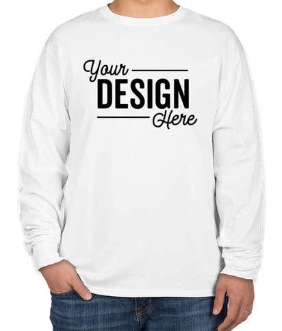 Hanes Essential 100% Cotton Long Sleeve T-shirt - White