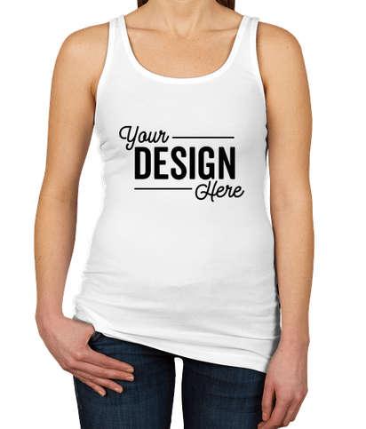 Next Level Women's Slim Fit Jersey Tank - White