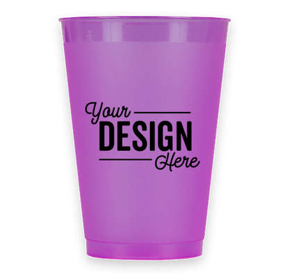 12 oz. Frosted Plastic Stadium Cup - Purple