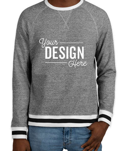 J. America Varsity Crewneck Sweatshirt - Pepper/Black
