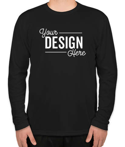 Sport-Tek Tall Competitor Long Sleeve Performance Shirt - Black