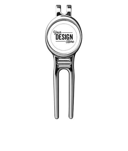 Golfers Divot Tool with Ball Marker - White