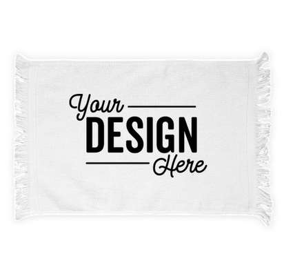 Fringed Rally Towel - White