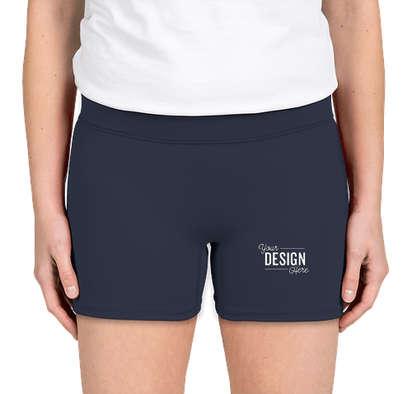 """Augusta Women's 4"""" Compression Shorts - Navy"""