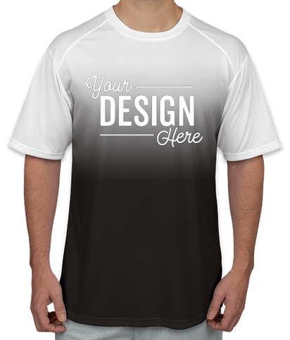 Badger Ombre Performance Shirt - Black Ombre