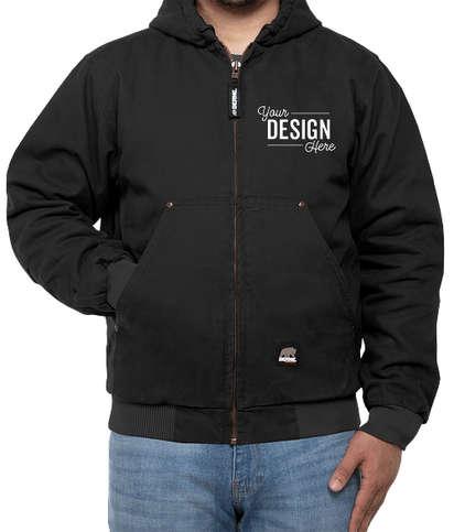 Berne Highland Washed Cotton Duck Hooded Jacket - Black
