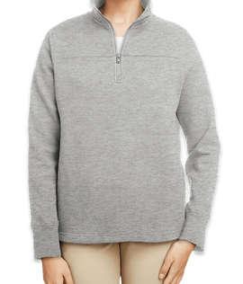 Nautica Women's Anchor Quarter Zip Sweatshirt