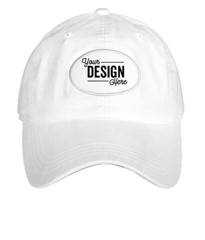 Ahead Oval Patch Baseball Hat - True White