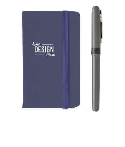 Hard Cover Mini Pocket Notebook - Blue