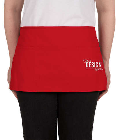 Port Authority Stain Release Waist Apron - Screen Printed - Red