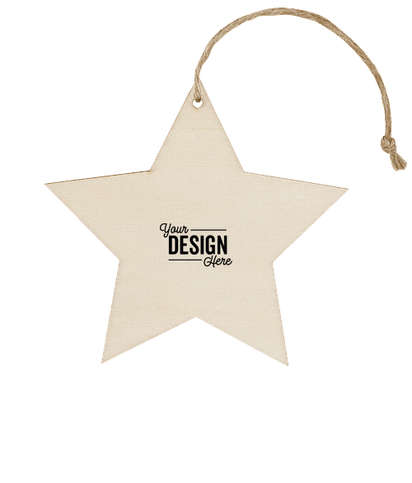 Star Wood Ornament - Natural