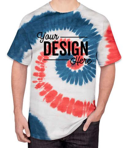 Port & Company Tie-Dye T-shirt - USA Rainbow