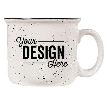 14 oz. Ceramic Camper Mug - White