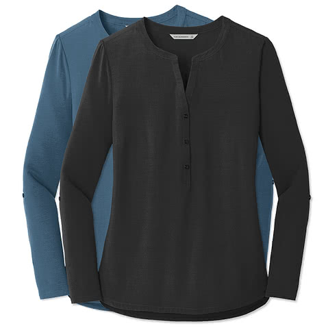 Port Authority Women's Henley Tunic Blouse