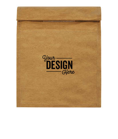 Brown Paper Bag 6 Can Lunch Cooler - Brown