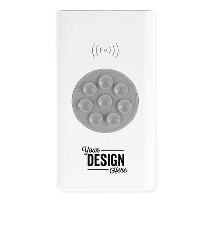 UL Listed 4,000 mAh Wireless Power Bank - White