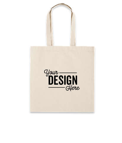 Lightweight 100% Cotton Tote Bag - Natural