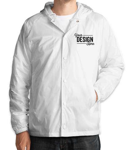 Augusta Hooded Coaches Jacket - White