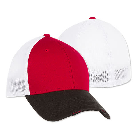 New Era 39THIRTY Distressed Stretch Fit Mesh Hat